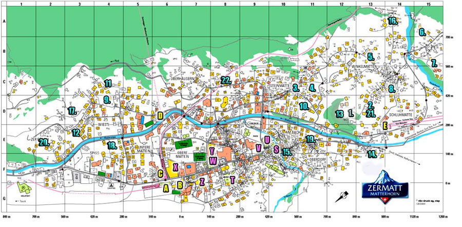 Zermatt Apartment Rentals :: Apartment Locations on